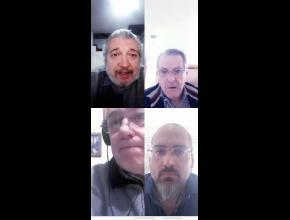 Nuestros representantes en videoconferencia con el Rector